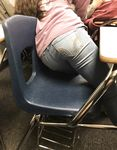 high school ass in class