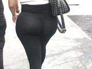 Phat Ass in See Thru Yoga Pants