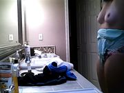 hidden camera bathroom teen changing