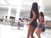 Candid voyeur tight skinny body teen beauty shopping