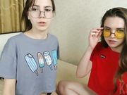 2 hot teens playing on live