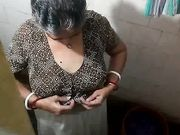 Best Indian aunty undressing at bathroom