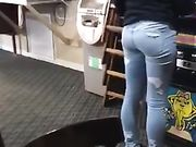 Young teen ass in jeans