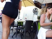 Candid voyeur 2 hot latina asses in spandex street