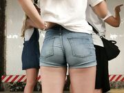 Beautiful Blonde Teen With Tight Ass In Shorts