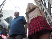 Teen With Plaid Skirt And Thong Shows Tight Bubble Ass