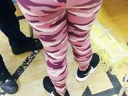 candid ass in pink camo leggings