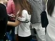 Dude Jerking Off On Girl In Crowded Train