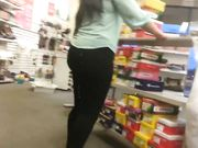 Cum On The Ass Of Big Booty Lady At Shoe Store