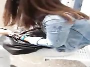 Cute Teen Gets Cum Sharked While Waiting For The Bus