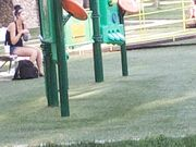Candid legs at park