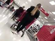 slut blonde doesn't know her ass is being filmed
