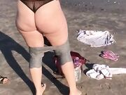 Candid PAWG on Beach