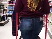 Sexy target worker with huge ass