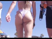 Young Bouncy Ass at the Beach