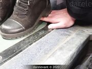 candid hand trample boots hand crush candid