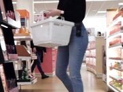 PAWG Babe in Tight Jeans Working at Ulta